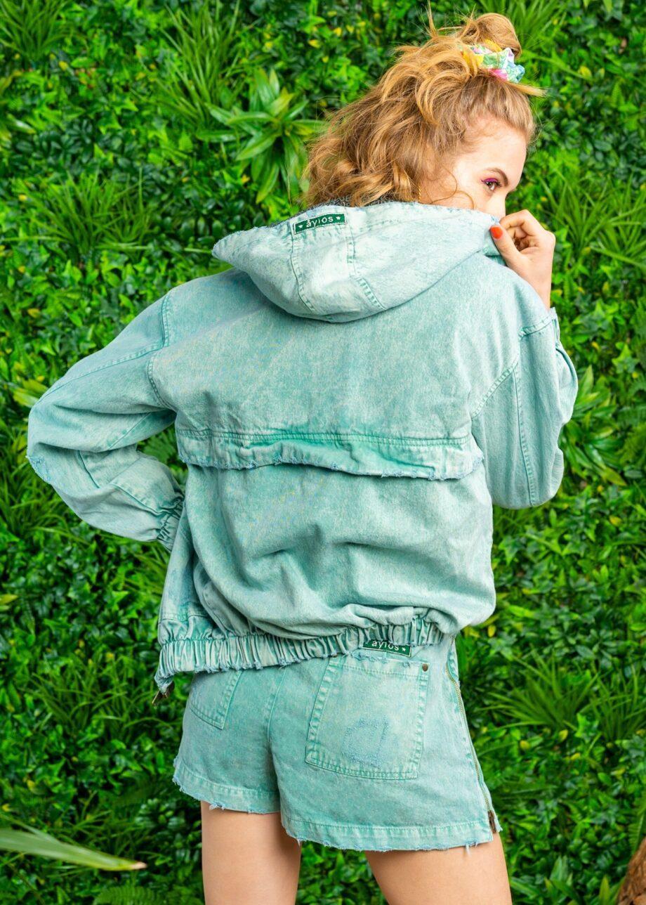 Hoodie Zip Green